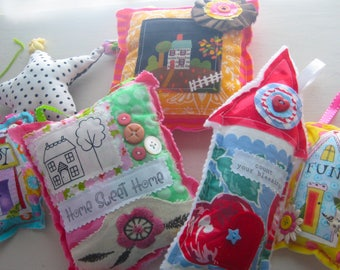 Destash Lot - 6 Home Decor Pillow Ornaments