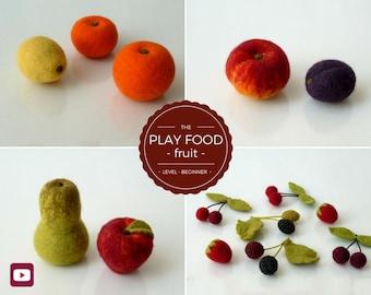 DIY - Video Tutorial Play Food Fruit - Beginner Level - 16 videos & 4 PDFs - Instant download
