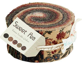 "Moda Sweet Pea Jelly Roll 2.5"" Precut Fabric Quilting Cotton Strips Kansas Troubles 9400JR"
