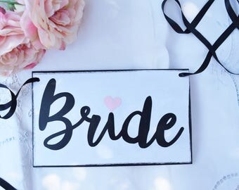 Bride Mini Banner - Wedding banners- Wedding Sign-  Bride To Be Chair Sign - Bridal Shower Decorations - Bridal Shower Banner