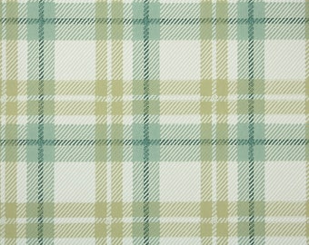1950s Vintage Wallpaper by the Yard - Green and Yellow Plaid