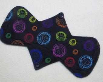 "10.5"" Heavy - Rainbow Swirls - Reusable Cloth Menstrual Pad (10PHC)"