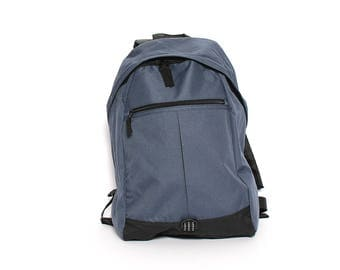 GRAY nylon 90s NORMCORE BACKPACK unisex camping