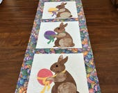 Table Runner Quilted Bunny Rabbits