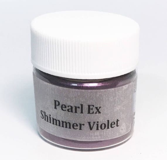 Pearl Ex Mica Pigment Powder 6 gm - SHIMMER VIOLET #633 Eggplant Purple - Art Craft Paint Medium Mixed Media Collage Jewelry Resin Wax Clay