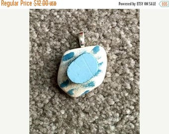 JULY SALES EVENT Pottery Pendant-Gift Idea-Summer Jewelry-Beach Jewelry-Christmas Gift Idea - Christmas - Holiday Shopping