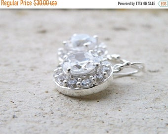 Summer Sale Bridal Earrings Cubic Zirconia Sterling CNE2