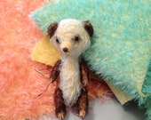 "Beautiful Hand-dyed German Mohair Teddy Bear 12"" x 12"" Fabric Piece - Your Choice, dyed by Ellifolks"