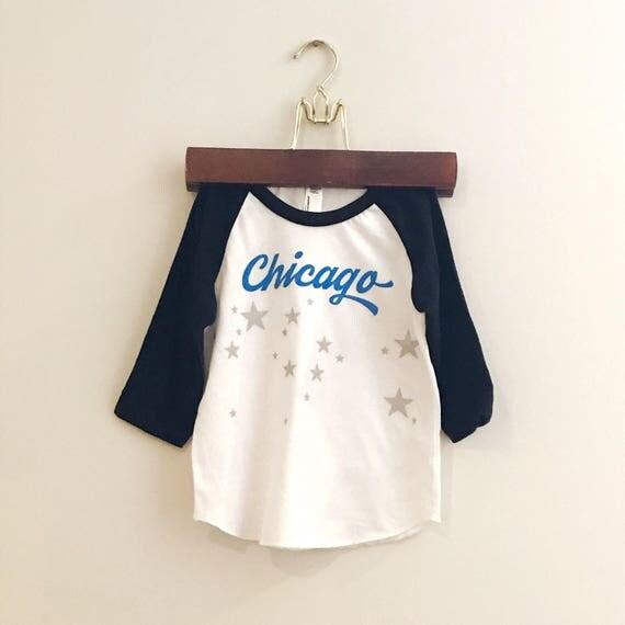 Chicago baby and kids baseball tee. Chicago star tshirt. Baby gift