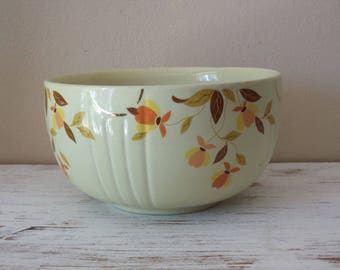 Vintage Halls Superior Autumn Leaf Kitchenware by Mary Dunbar for Jewel Tea large mixing/serving bowl