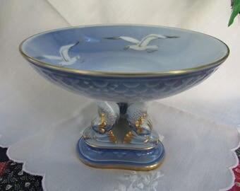 VINTAGE - Bing and Grondahl Pedestal Dish - from Denmark