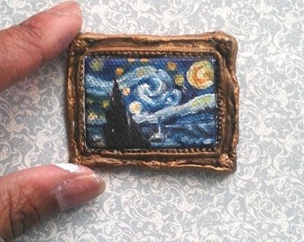 1:24 Scale Van Gogh's Starry Night Reproduction Oil Painting READY to SHIP