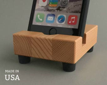 Wood iPhone Stand, Reclaimed Fir