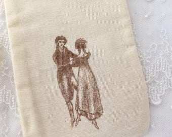 Jane Austen Muslin Bags Pride and Prejudice SET OF 10