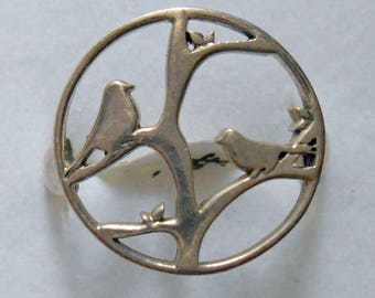 Sterling Silver Bird Ring 7 New Vintage Stock