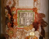 Vintage Antique Style Chunky Tim Holtz Junk Journal!  182 pages!  172 tags & cards!  Embellished to the max!