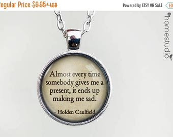 ON SALE - Catcher (Present) Quote jewelry. Necklace, Pendant or Keychain Key Ring. Perfect Gift Present. Glass dome metal charm by HomeStudi