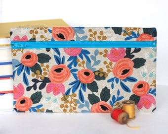 Floral Pencil Case Handmade with Rifle Paper Co Fabric