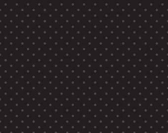 20EXTRA 30% OFF Swiss Dots Tone on Tone Black  - 1/2 Yard