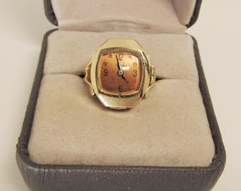 Ring-Watch 14Kt Gold