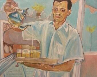 Wall Art - Art Prints - Moroccan Art - Mint Tea and Gazelle Horns - Tangier - Morocco