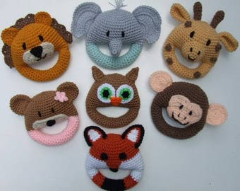 Crochet Pattern, Amigurami, Baby Toys, Animal Toys, PDF Download