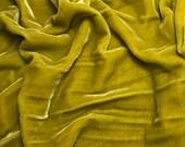 CHARTREUSE Silk Velvet Fabric - fat 1/4