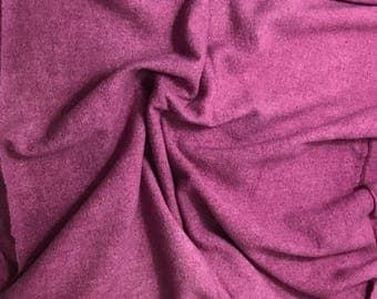 Hand Dyed Lilac Raw Silk Noil Fabric - 1 Yard