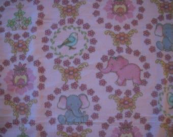 Elephant Sewn Fleece Lap Blanket