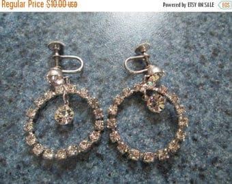 50% Off Vintage Rhinestone Earrings