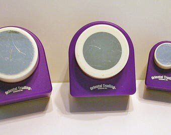 Circular Punch Set, 3 Piece, For Scrapbooking, Decorations, Cards, Crafts