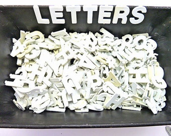 Over 300,  1-inch White Plastic Sign Board Letters, Numbers, and Punctuation