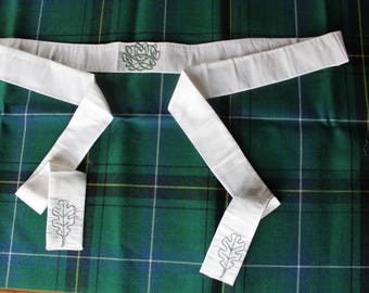 Celtic Wedding Collection - Oak Leaves Handfasting Cloth in Silk