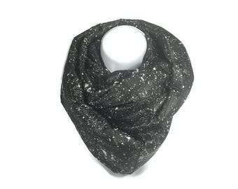 Winter Cowl Puffer Jacket Scarves Gray and Black Warm Scarves Outerwear Quilted Scarves Chunky Winter Scarves Chunky Outerwear Scarves