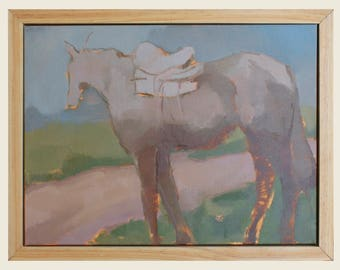 horse painting on canvas / horse wall art / original horse painting