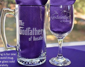 Custom Personalized Godparent Mug, Engraved Baptism Gifts, Godmother/Godfather Present, Will You Be My Godparent Christening Gifts