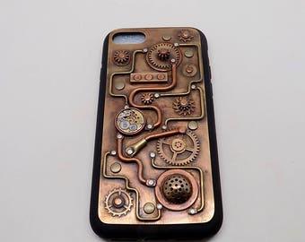 Iphone 7 case. Steampunk iPhone 7 case.mobil phone case.