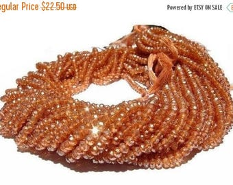 """50% Off Sale 14"""" Strand Mystic Champagne Quartz Micro Faceted Rondelle Beads Size 3.5mm approx"""