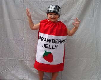 Baby Costume Jelly Costume Jam Costume Peanut Butter and Jelly Halloween Costume Food Costume Strawberry Grape Toddler Costume Toddler Boy