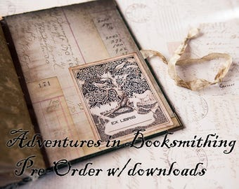 Adventures in Booksmithing Journal making video course with materials list, templates and bonus ephemera - Nik the Booksmith