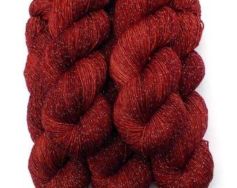 Hand Dyed Yarn Stella Superwash Merino Sock Yarn, Espelette