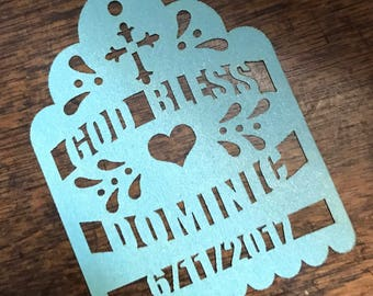 Baptism Mi Bautizo Laser Cut Tags (each piece) for Maracas or Party Favors First Communion Confirmation Thank you Religious God Bless Cross