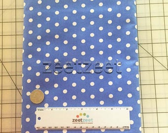 "PERIWINKLE BLUE & White 1/4"" POLKA Dot Robert Kaufman Pimatex Basics Cotton Quilt Dress Fabric Sold by the Yard"