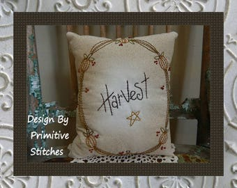 Farmhouse Harvest-Primitive Stitchery E-PATTERN-INSTANT DOWNLOAD