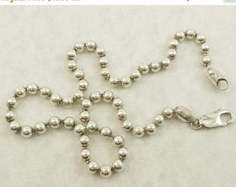 Italy Sterling 925 Bead Ball Chain Necklace 5mm Pallini Chain