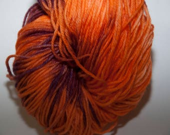 Hand-Dyed Campfire Colourway 4 ply Yarn Polwarth Snuggly Base