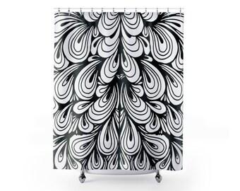 Bathroom Zen Art zen shower curtain | etsy