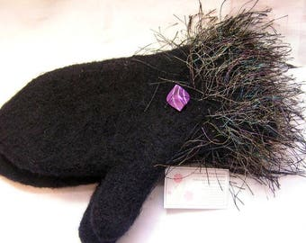 Mittens..Custom Ordered  Knitted and Felted Winter Mittens... Water and Wind Repellent...Warm