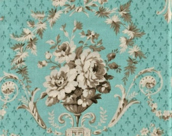 RJR Jardin Gris By Robyn Pandolph 2729 2 Blue Flower Bouquet By The Yard