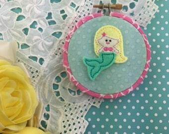 """Little Mermaid Hoop Art 3"""""""